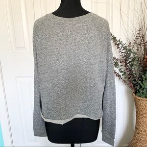 Mossimo | Raw Hem Cropped Heather Gray Sweater